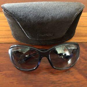 "Tom Ford Gray ""Jennifer"" Sunglasses"